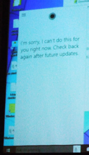 Cortana has a problem and needs updates