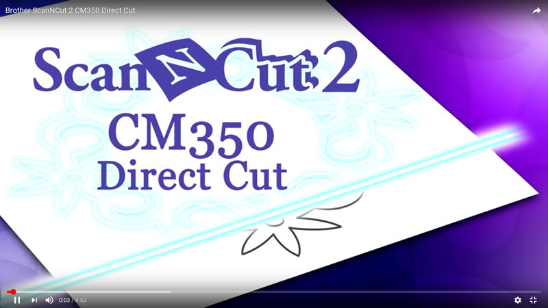Brother cm350 scan and cut video