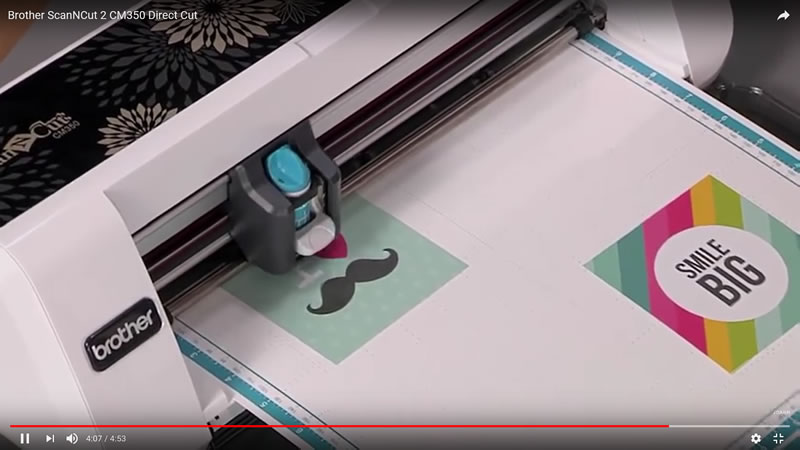 Brother cm350 video pattern cut