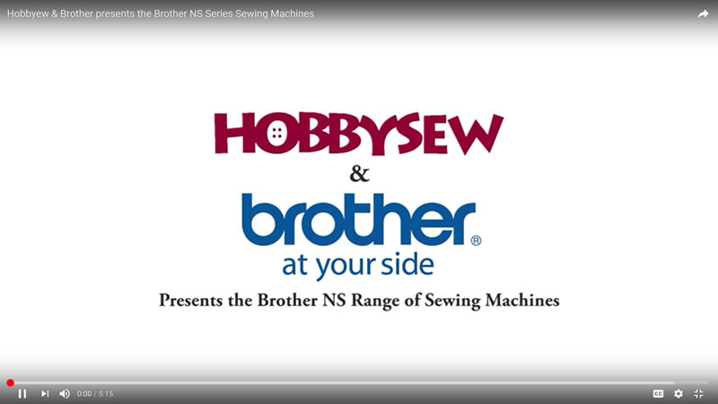 Brother NS series video