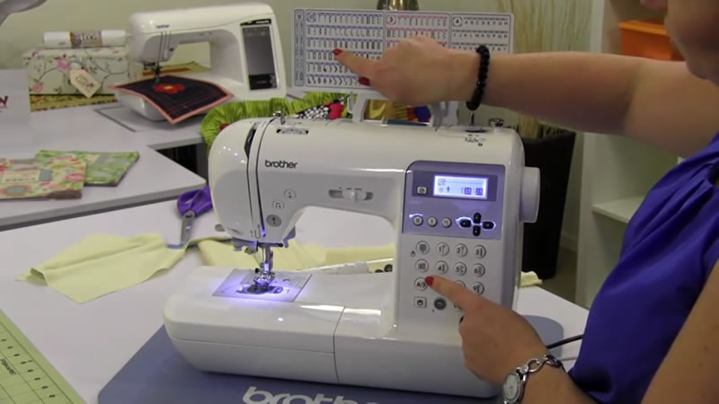 Sewing pattens displayed in the video