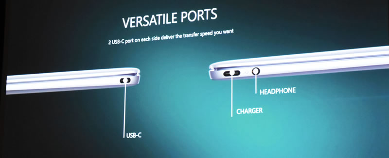 Huawei Matebook ports available
