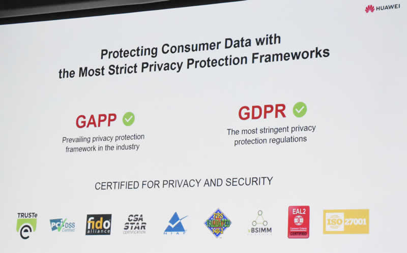 Huawei slide 11 privacy protections