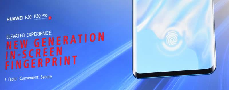 Huawei slide 28 Finger print