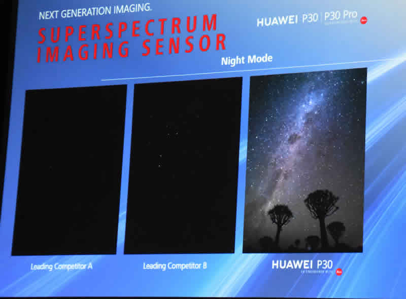 Huawei Slide 39 night sky photos