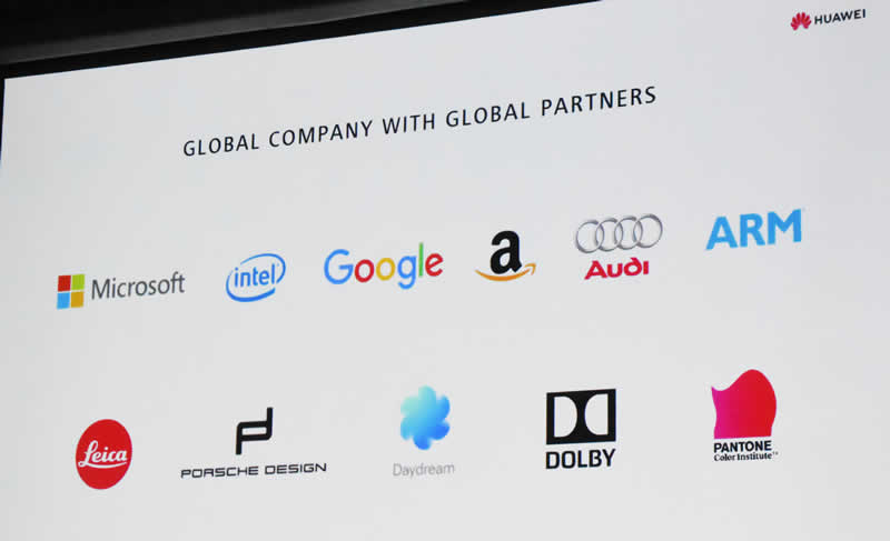 Huawei slide 9 Global partners