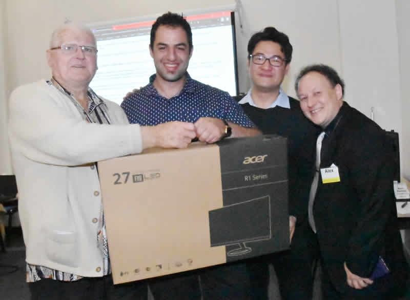 The winner of the Acer Monitor