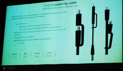 Slide showing the switch tip cables