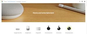 Google Home Entertainment page