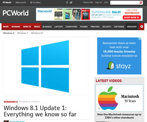 Article in Windows 8.1 Update, What we know so far slide
