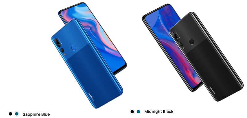 Huawei Y9 Prime in blue or black