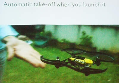 Hand Launch of flying drone