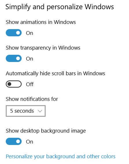 July 18 Screen Shot Animation settings