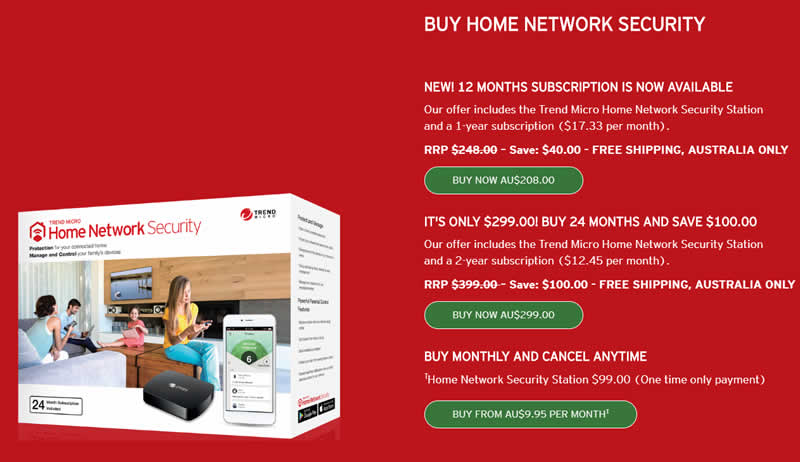 Trend Home Network Security prices
