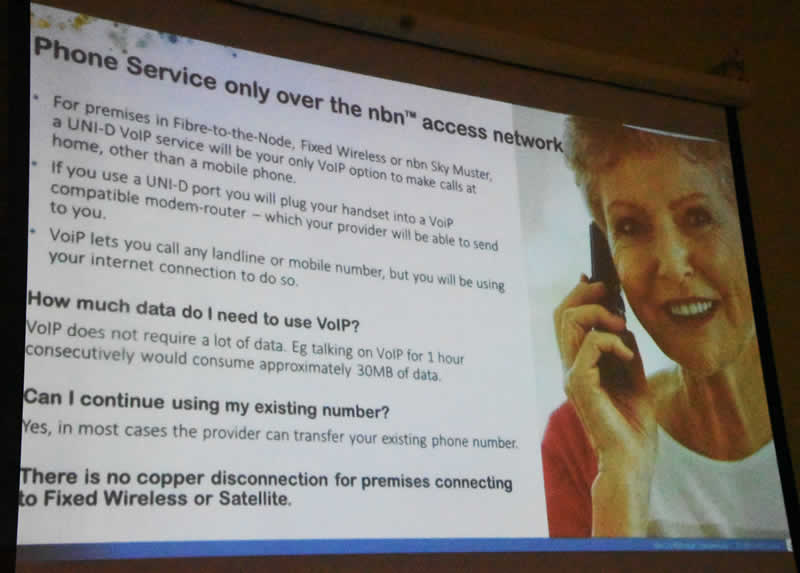 May 18 slide 5 Phones on the NBN