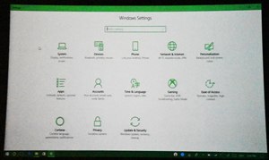 New Windows System setting