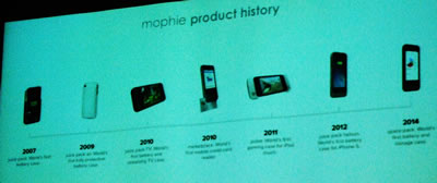Mophie History slide