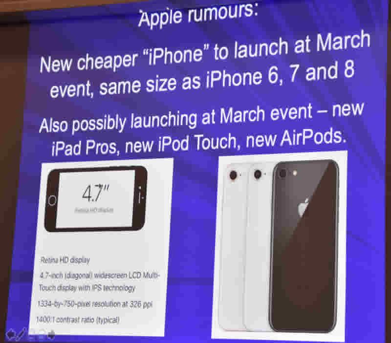 February 20 Slide on Apple rumours
