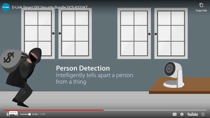 D-Link Slide 4 Person Detection