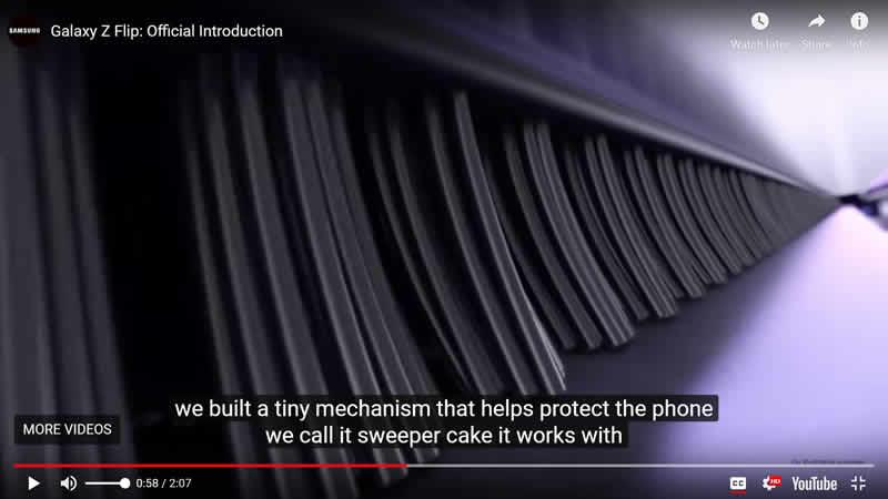 Galaxy Z hinge brush