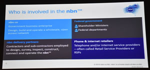 NBN Slide 1 Whos involved in the NBN