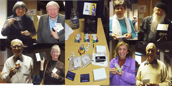 Our raffle prizes and some of the winners
